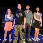 Becky Byers, Isaiah Tenenbaum, Chester Poon, and Sol Crespo (L-R) in Jane the Plain. Photo: Deborah Alexander