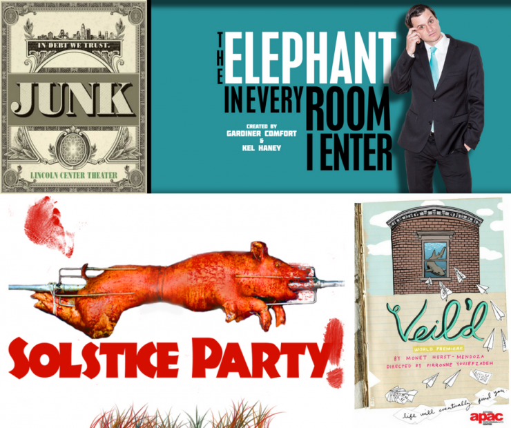 Junk, Solstice Party!, Veil'd, The Elephant in Every Room I Enter